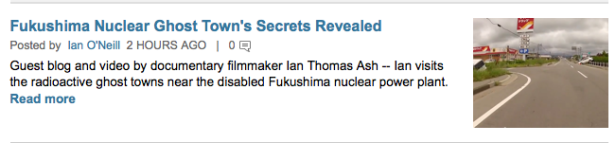 Discovery News publishes Ian's Guest blog on