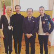 Festival Delegation Invited to Home of Japanese Ambassador